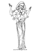 Fairy Welcomes You Coloring Page