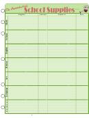 School Supply Chart