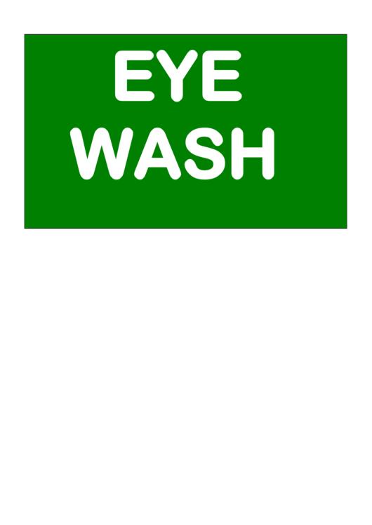 eye wash station sign pdf