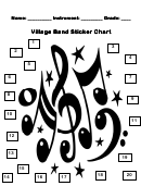 Village Band Sticker Chart