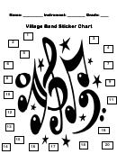 Village Band Sticker Chart