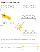 Good Behavior Chart For