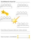 Good Behavior Chart For