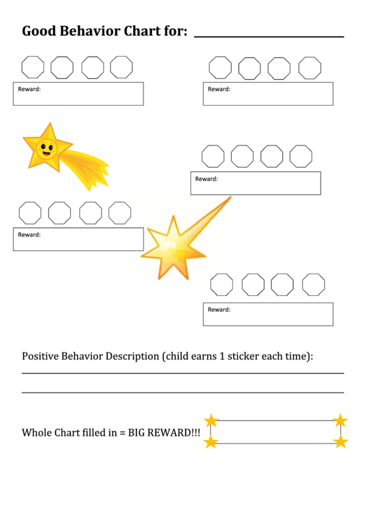 Good Behavior Chart For Printable pdf