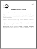 Community Service Grant