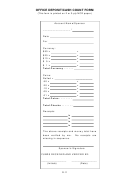 Cash Count Form
