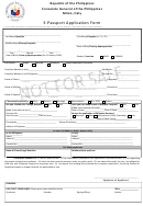 E Passport Application Form