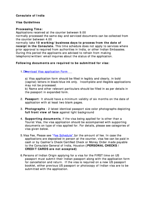 Fillable Visa Application Form Printable pdf