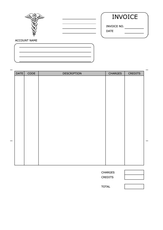 Medical Invoice Template Printable pdf