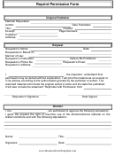 Reprint Permission Form
