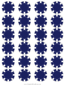 Blue Poker Chip Templates