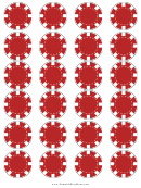 Red Poker Chip Templates