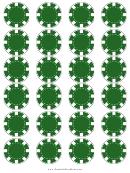 Green Poker Chip Templates