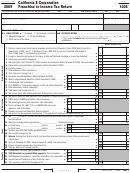 Form 100s - California S Corporation Franchise Or Income Tax Return - 2009