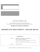 Form Ds 155a-61-14 - Residential Personal Property Declaration Schedule - 2015
