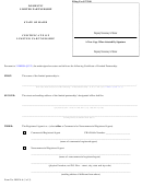 Form Mlpa-6 - Certificate Of Limited Partnership/filer Contact Cover Letter