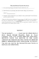 Refund Transfer Disclosure Form