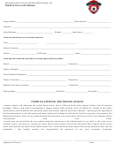 Medical Form And Release Form