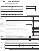 Form 40a - Alabama Individual Income Tax Return Form - 2014