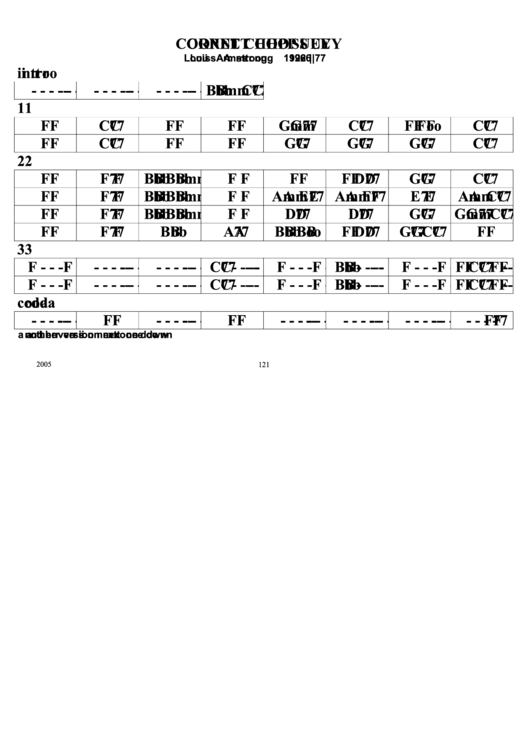 Cornet Chop Suey Chord Chart printable pdf download