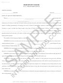 Form Mvr 92d - Indemnity Bond