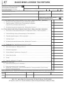Form Tc4705 - Idaho Mine License Tax Return - 2005