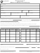 Form Ref-1000a - Affidavit Form For Certification Of Tax Paid Invoices