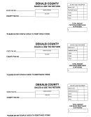 Sales And Use Tax Return Form - Dekalb County