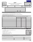 Form 514 - Oregon Cigarette Consumer's Monthly Tax Report Form - Department Of Revenue, Oregon