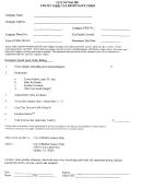 Utility Users Tax Remittance Form - City Of Malibu, California Finance Department
