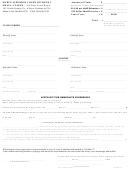 Affidavit For Immediate Possession Form - Noble Superior Court Division 2