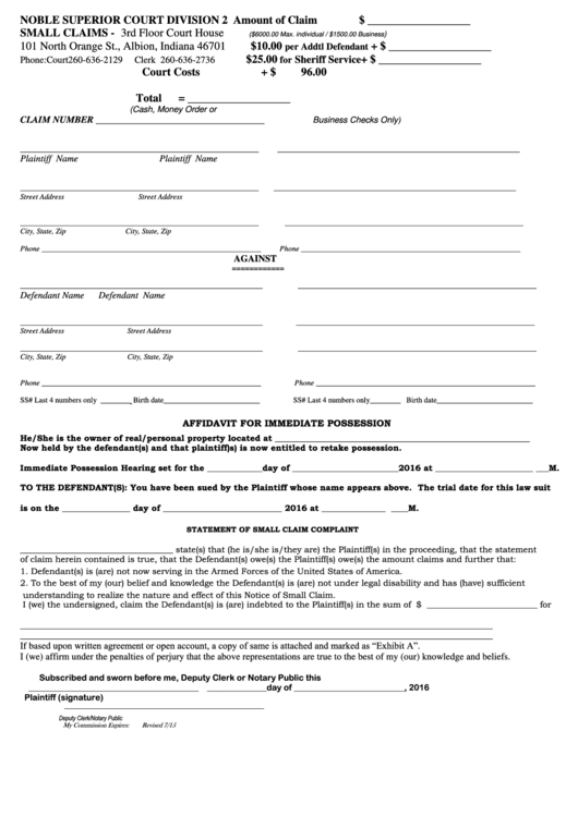 Top Indiana Court Forms And Templates Free To Download In PDF Format - Indiana legal forms free
