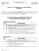 Form Dhhs/dhsr-8 - Nurse Aide I Training Faculty Requirements Worksheet - N.c. Department Of Health And Human Services