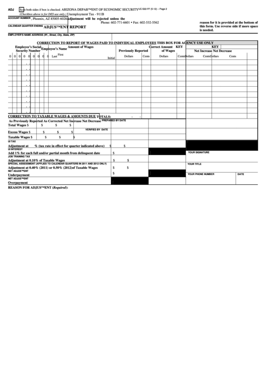 arizona department of economic security unemployment phone