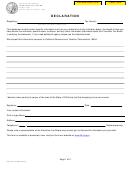 Form Ftb 2153 C1 Pc - Declaration - Franchise Tax Board - State Of California