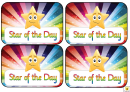 Award Certificate Template - Star Of The Day
