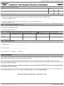 Form 8455 - California E-file Payment Record For Individuals - 2006