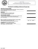 Worksheet For Scheduling An Electronic Payment Only