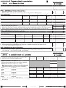 California Schedule B (100s) - S Corporation Depreciation And Amortization - 2014