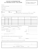 Court Interpreter Authorization Voucher Form