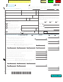 Form 1 - Wisconsin Income Tax - 2014
