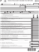 Form 66 - Fiduciary Income Tax Return/form Id K-1 - Partner's, Shareholder's Or Beneficiary's Share Of Adjustments, Credits, Etc - 2016
