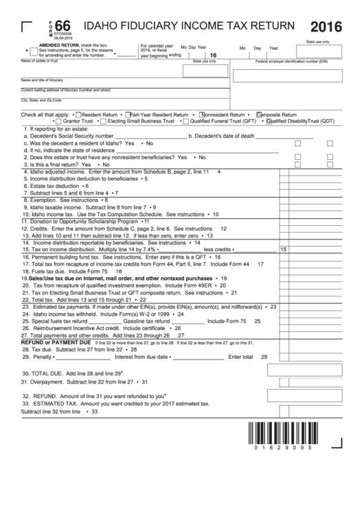 trust tax return instructions 2016