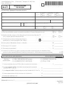 Vt Form Bi-471 - Business Income Tax Return
