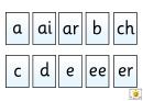 Spelling Frame Abc Template (a, Ai, Ar, B)