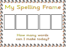 Spelling Frame Abc Template (a, Ai, Ar, B, Ch - Picture Frames)