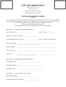Form Erf - Extension Request Form