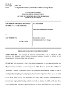 Form St 04-20 - Recommendation For Disposition