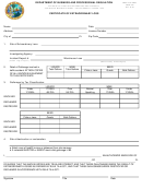 Dbpr Form Ab&t - Certificate Of Extraordinary Loss