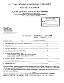 Gross Receipts Tax Monthly Report Form - City Or Little Rock